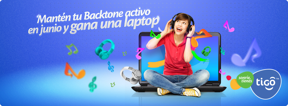 Mantén activo tu Backtone en Junio y Gana una Laptop