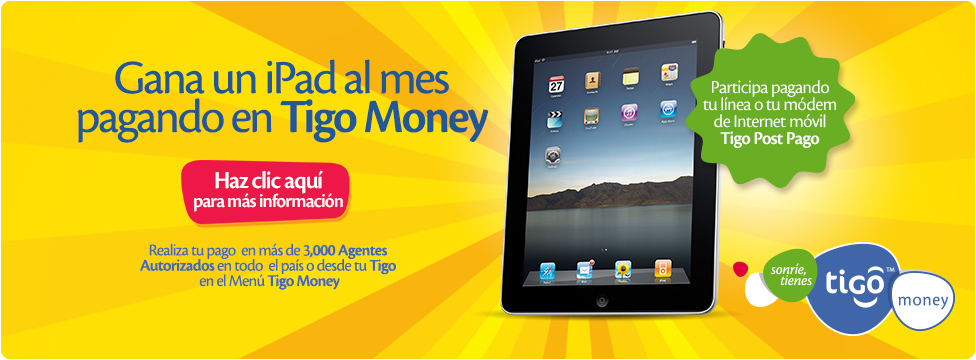 Gana un iPad con Tigo Money
